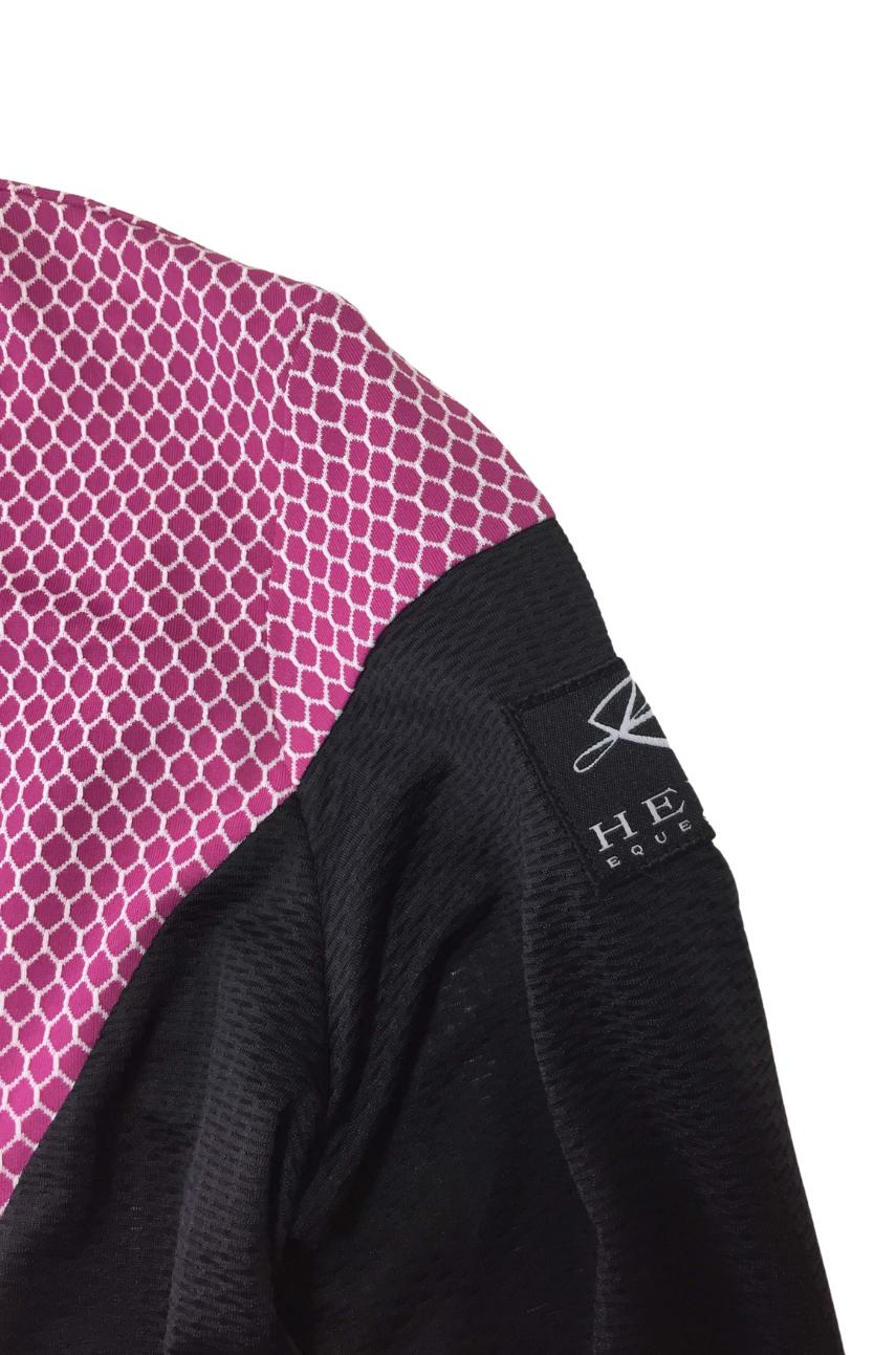 Function Shirt Meshy Beauty Langarm Beau Berry-Muster